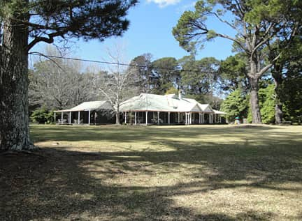 grounds of Kullindi Homestead, holiday accommodation on the NSW South Coast