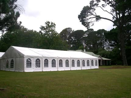 Guests are welcome to erect marquees on the spacious grounds to celebrate your wedding in style